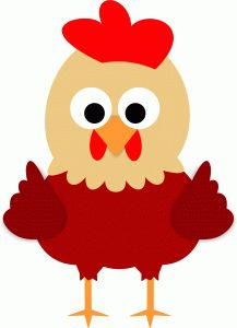 Shapes clipart chicken #4