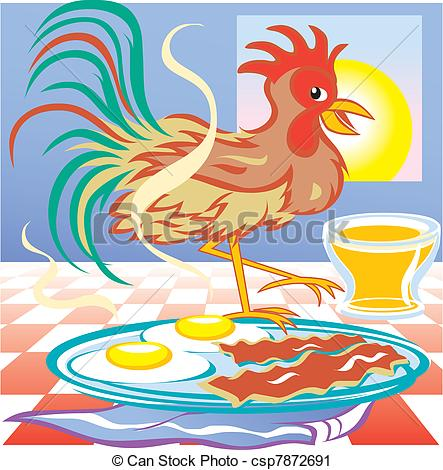 Rooster clipart breakfast #13