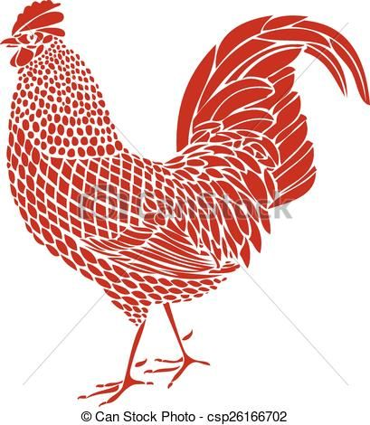 Drawn rooster graphic Rooster  Pinterest Best ideas