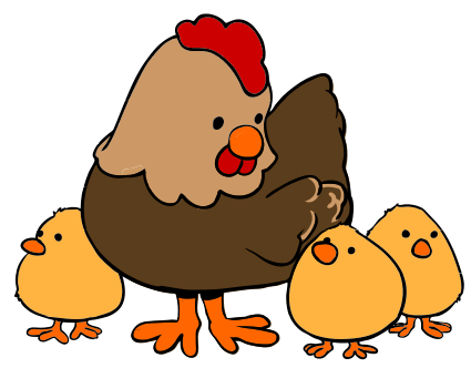 Rooster clipart hen #12