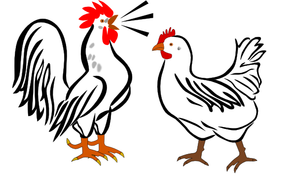 Rooster clipart hen #7