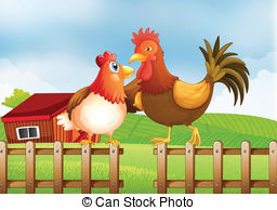 Rooster clipart hen #11