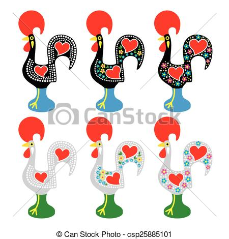 Drawn rooster portuguese rooster Of Clipart icons csp25885101 Portuguese