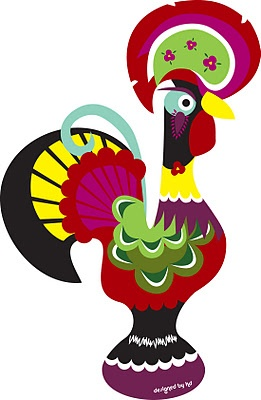 Drawn rooster portuguese rooster Pinterest Rooster 112 Barcelos Art