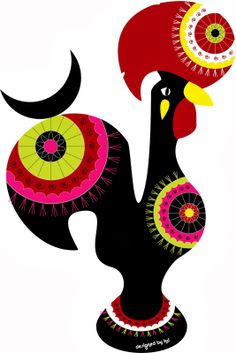 Drawn rooster portuguese rooster Transformed quinta quinta Galo The