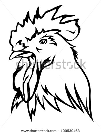 Rooster clipart rooster head #9
