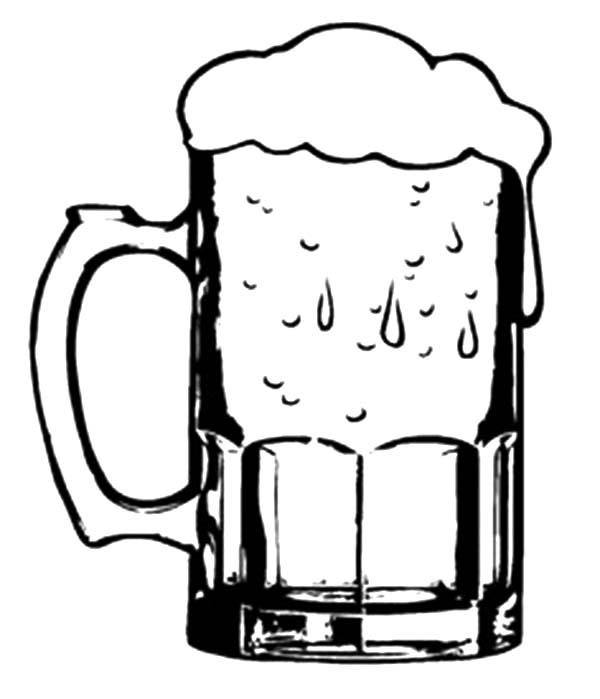 Drawn beer german beer Glasses Beer Beer Mugs –