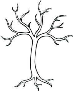 Roots clipart art Bare Clipart Roots with Tree