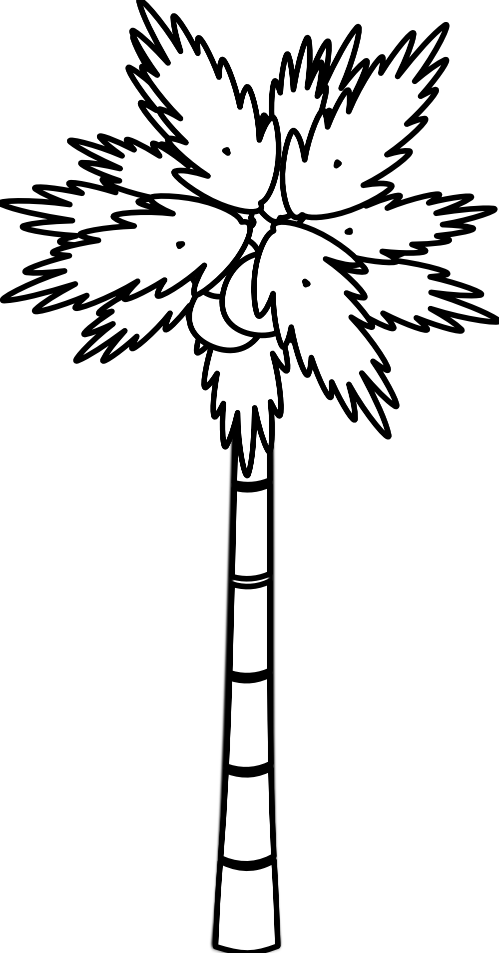 Roots clipart coconut Tree Free Line Line Art