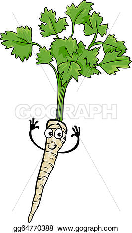 Roots clipart cute plant Clipart illustration Cartoon food Vector