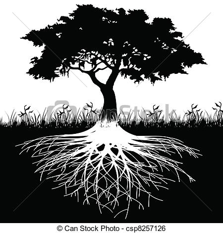 Roots clipart cute plant Tree silhouette roots clip silhouette