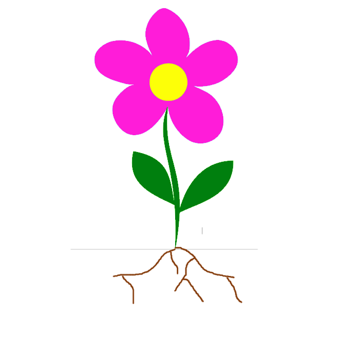 Roots clipart flower bud Free Clipart Stem Flower Panda