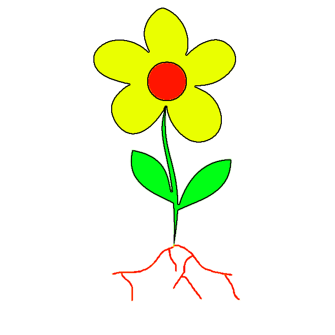 Yellow Flower clipart flower leaves Free Images Clipart Flower Clipart