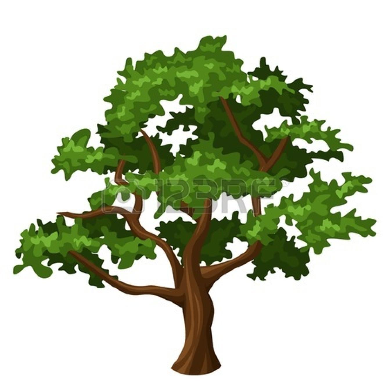 Tree clipart oak tree Big Clip Big with –