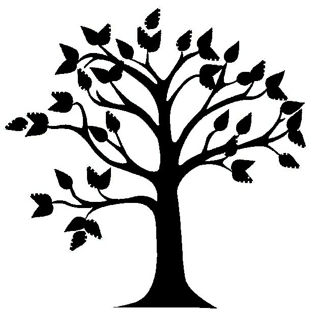 Black & White clipart tree Free tree and black And