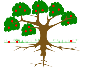 Roots clipart rooted tree #7
