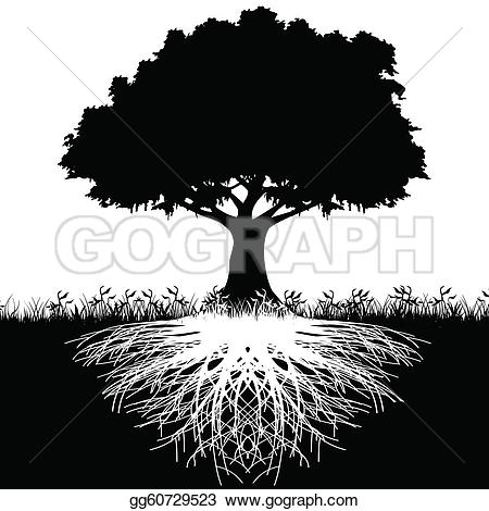 Roots clipart rooted tree #2