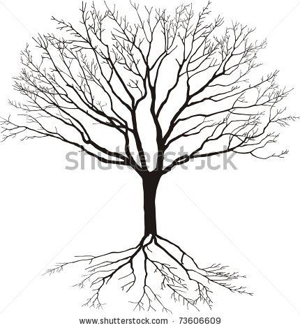 Roots clipart rooted tree #3
