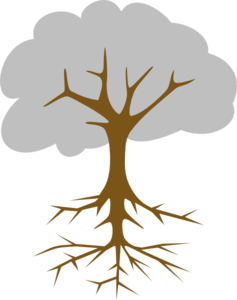 Roots clipart rooted tree Roots Square Art online Art