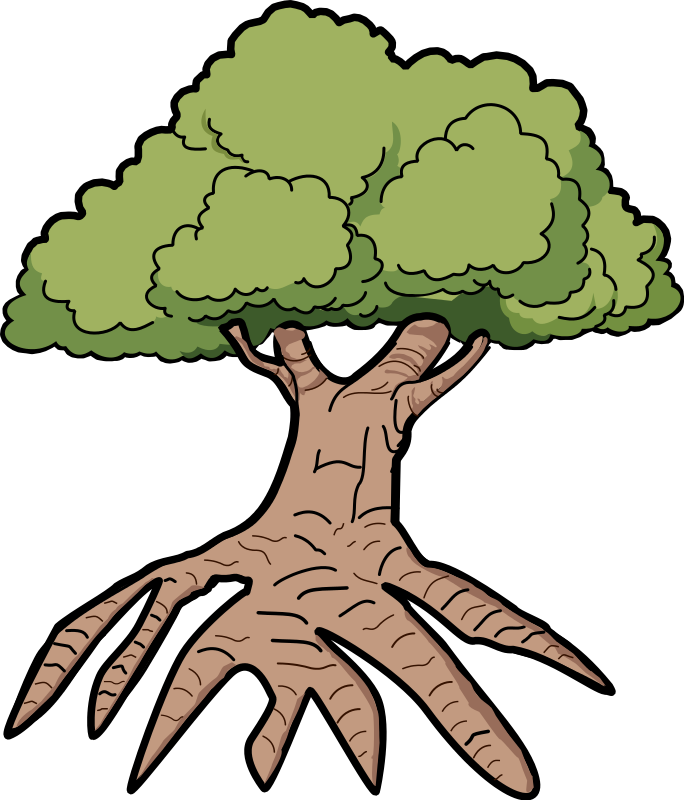 Roots clipart rooted tree #13