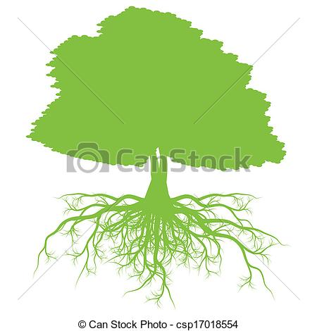 Roots clipart tree illustration Csp17018554 background with concept Tree
