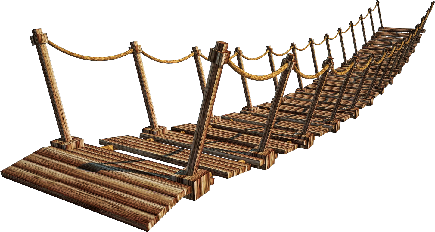 Rope Bridge clipart broken bridge 1274 Best bridge Suspension Clipart