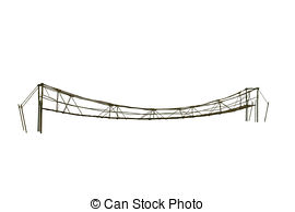 Rope Bridge clipart broken bridge Rope Stock On wooden Illustration