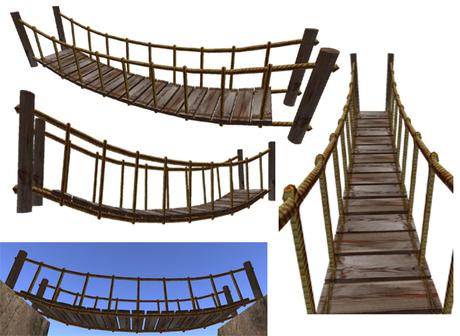 Rope Bridge clipart Second rope bridge Suspended Marketplace