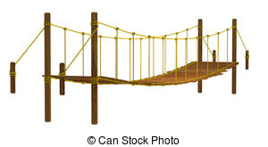 Rope Bridge clipart broken bridge Bridge On on  Illustration