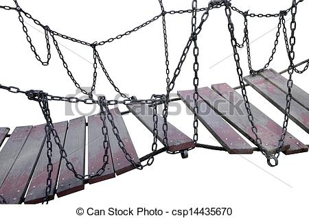 Rope Bridge clipart broken bridge Rope Bridge bridge bridge Stock