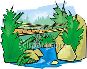 Rope Bridge clipart broken bridge Clipart A A Picture Clipart