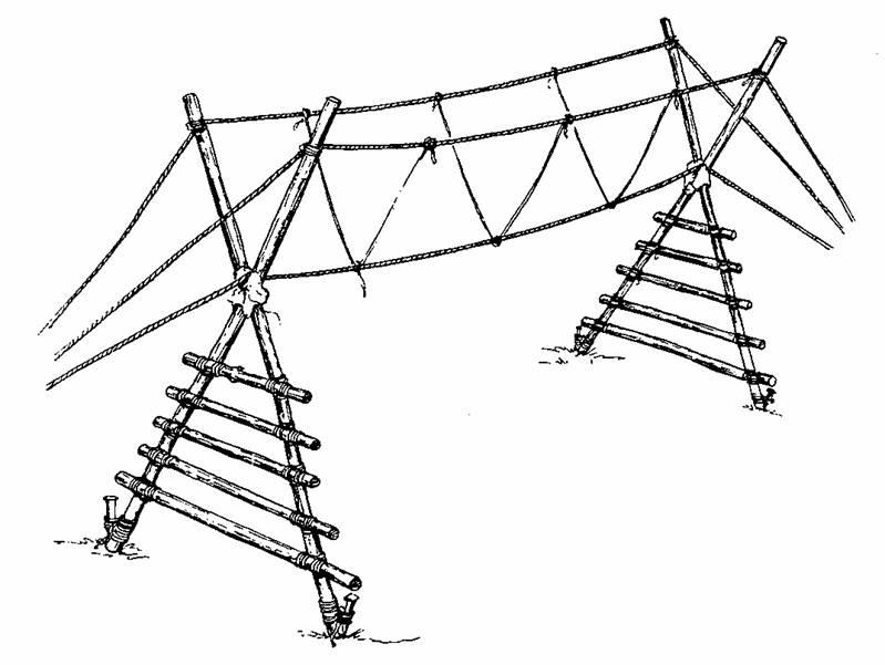 Rope Bridge clipart boy scout #15