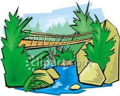 Bridge clipart water clipart Climax  water over Stream