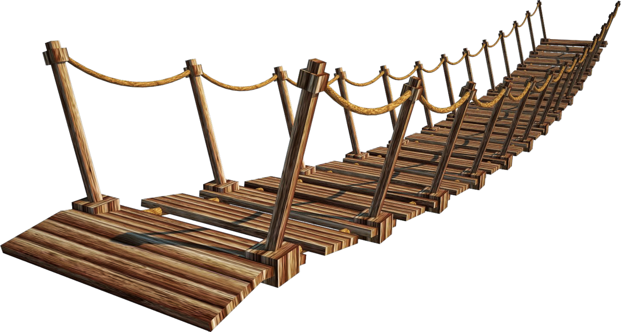 Rope Bridge clipart gap Suspension 4 A+ Wooden by
