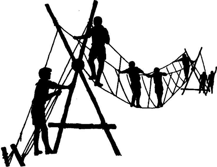Rope Bridge clipart high rope #1