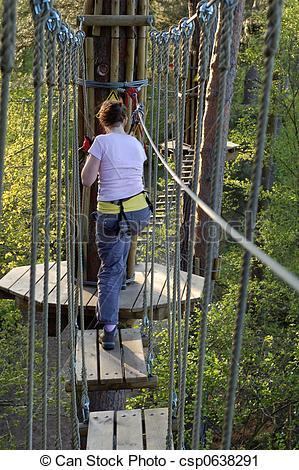 Rope Bridge clipart high rope #5