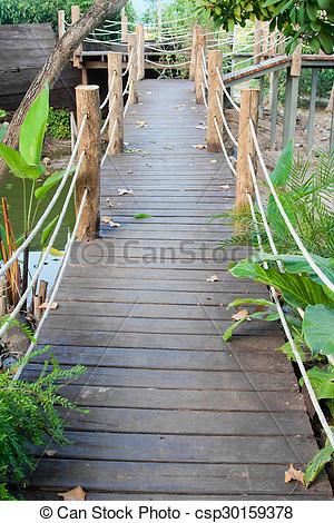 Rope Bridge clipart jungle Stock Wooden rope rope jungle