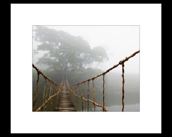 Rope Bridge clipart jungle 2 8X10 Custom Print bridge
