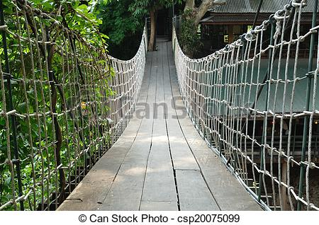 Rope Bridge clipart water Water across Suspension across the