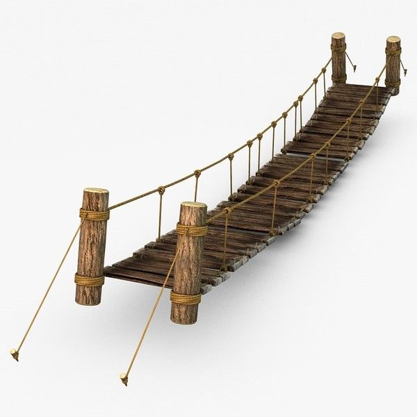 Rope Bridge clipart wood plank #14