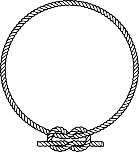Square clipart hand drawn Rope vector ring with tutorials