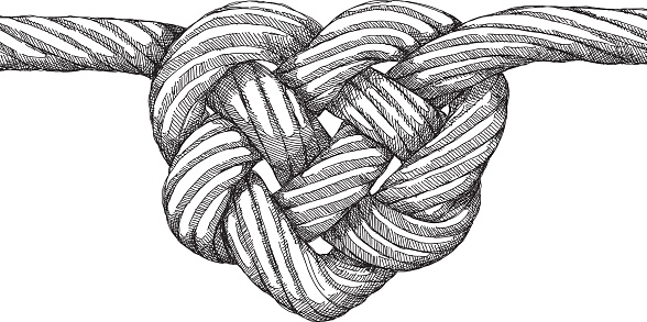 Rope clipart knoted #15
