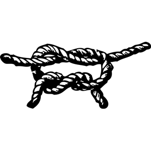 Rope clipart knotted rope #7
