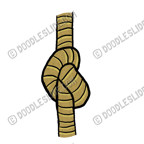 Rope clipart knotted rope #3