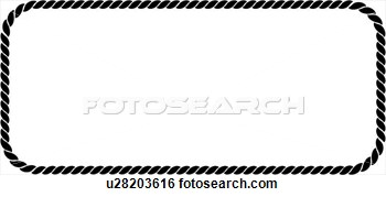 Rope clipart rectangular #3