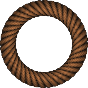 Rope clipart rope circle #11