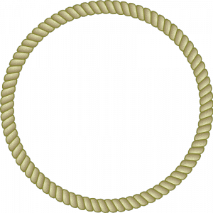 Rope clipart simple color border #8