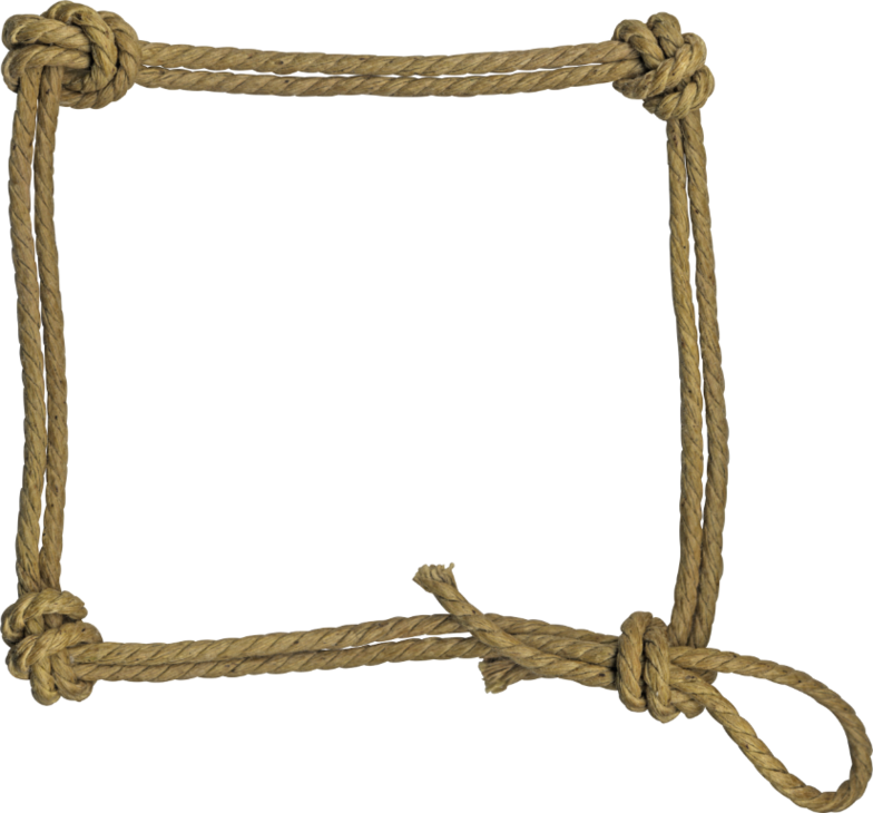 Rope clipart square frame #2