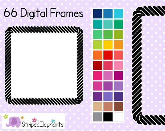 Rope clipart square frame #3