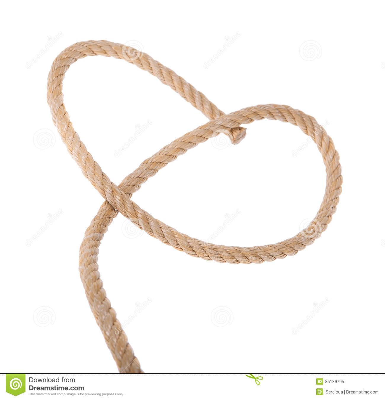 Rope clipart thick #1